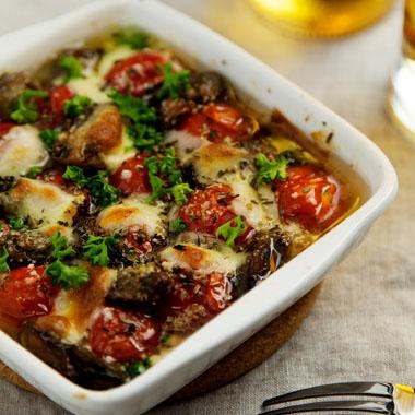 牡蠣とプチトマトのオーブン焼き