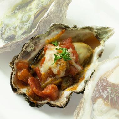 殻付き牡蠣トマト&チーズ