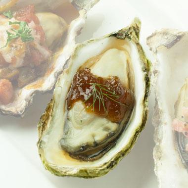 殻付き牡蠣ポン酢ジュレ