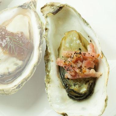殻付き牡蠣キルパトリック