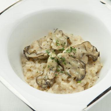 牡蠣とチーズのリゾット