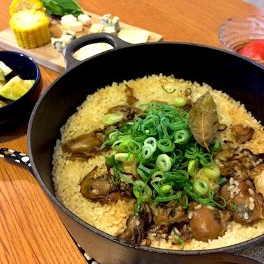 牡蠣オイル漬けde炊き込みご飯