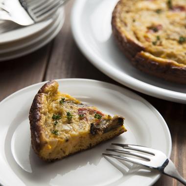 牡蠣とチーズのトルティージャ