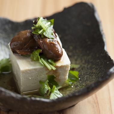牡蠣のせ豆腐